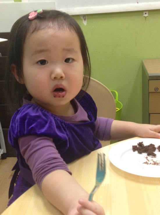 chocolate brownie face