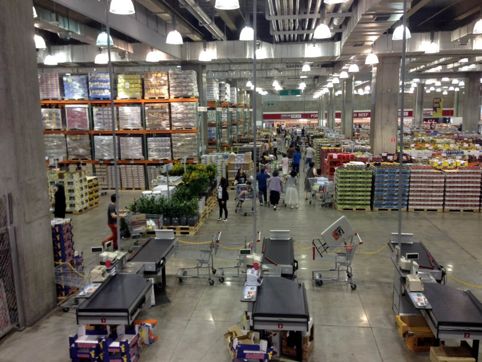 A look at the lower level of Costco. Just like home!