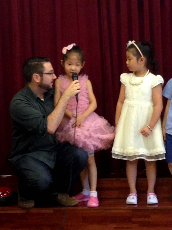 These 2 girls are Kevin's little princesses---I mean students.