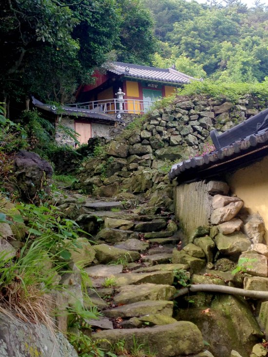 A temple to which you have to hike!