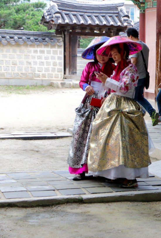 We saw many women wearing the traditional hanbok clothing in Jeonju. Just beautiful!