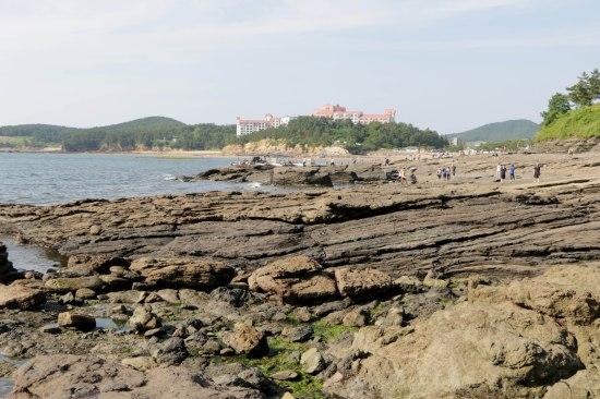 View toward the beach