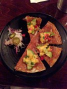 Shrimp & Mango Quesadilla from Vatos (delicious but too small to be worth $17)