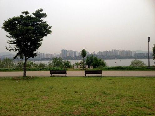 Enjoying some time along the Han River