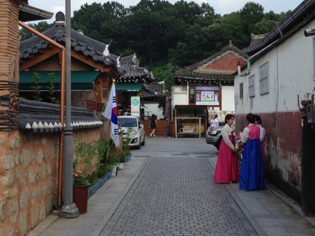 Many people wear traditional Hanbok in Jeonju.