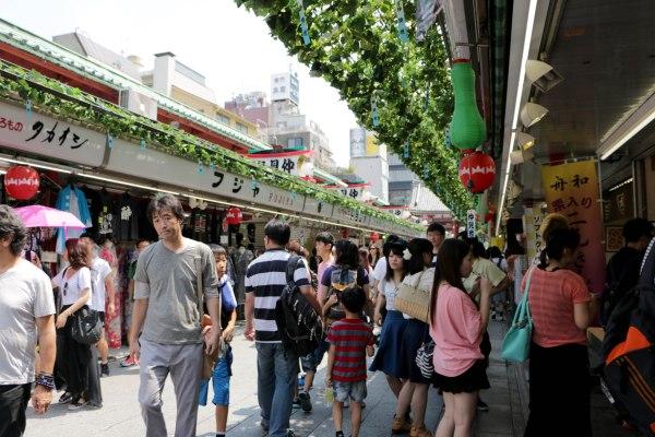 Nakamise-dori, where I was able to buy my Lucky Cats and the Kimono robe I wanted!