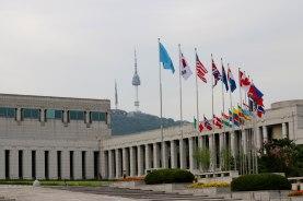 N Seoul Tower behind the War Memorial