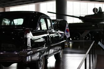 Presidential vehicle used by President Rhee Syngman, gifted to him by US President Eisenhower. First bulletproof vehicle in Korea.