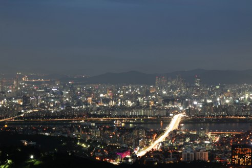 Beautiful view from N Seoul Tower