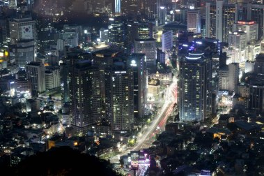 Buildings and streets of Seoul