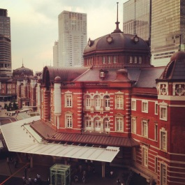 Tokyo Station viewed from the Kitte Dept. Store