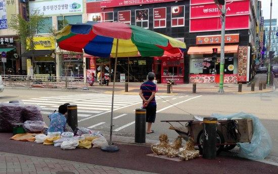 Ajummas selling things