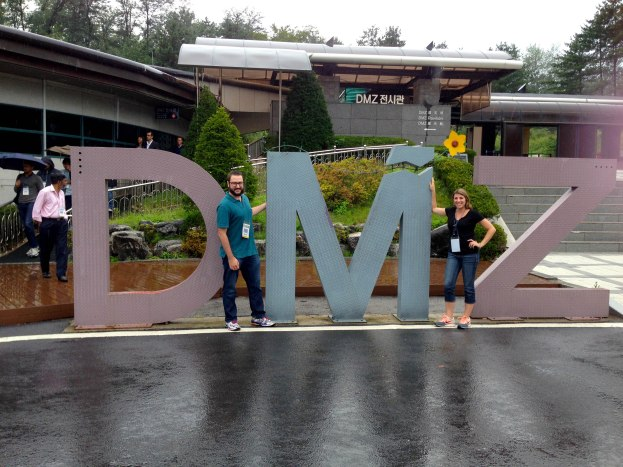 Kevin and I at the famous DMZ sign, located outside the 3rd Infiltration Tunnel