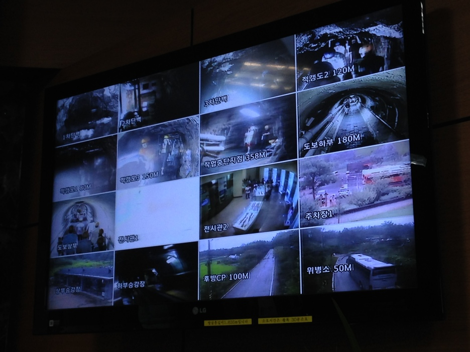 You can't take photos in the tunnels, but nobody said you can't take photos of the CCTV. :)