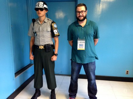 Kevin with the ROK Soldier guarding the door to North Korea.