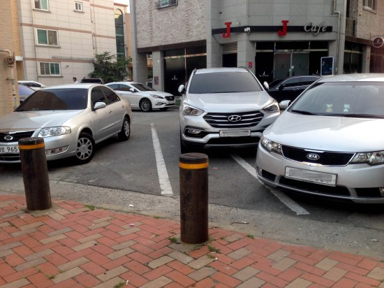 An example of poor parking.