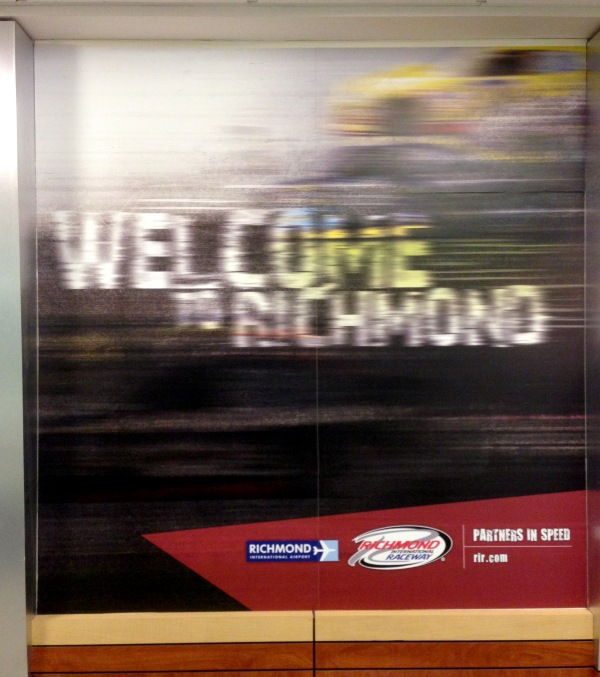 A warm welcome from RIC airport.