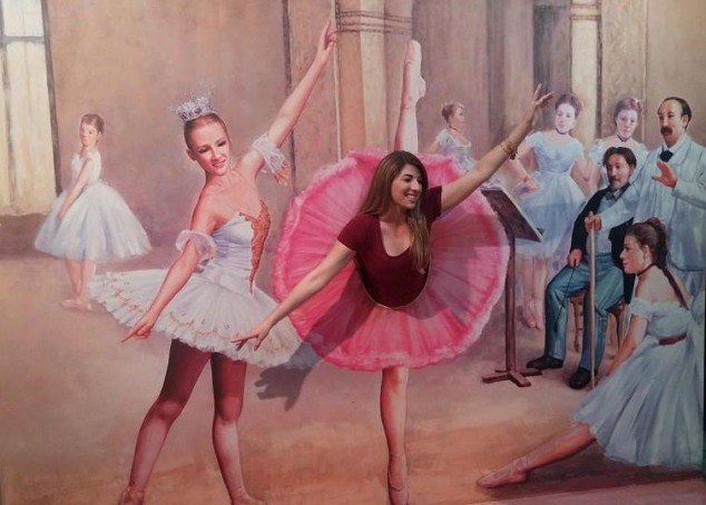 Reminiscent of a Degas ballerina. I couldn't find the original so if anyone knows, please share!