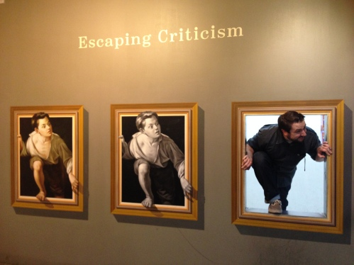 """Kevin joins in on Pere Borrell del Caso's """"Escapando de la critica,"""" or, """"Escaping Criticism."""""""